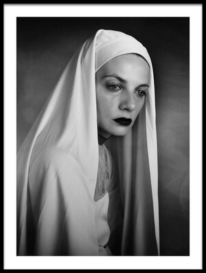 Art print titled The Nun by the artist alexandra fira