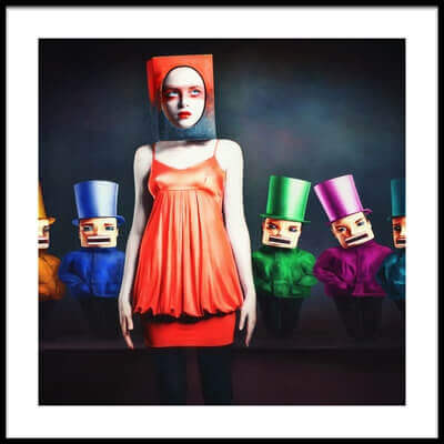 Art print titled The Nutcrackers by the artist Ekaterina Zagustina