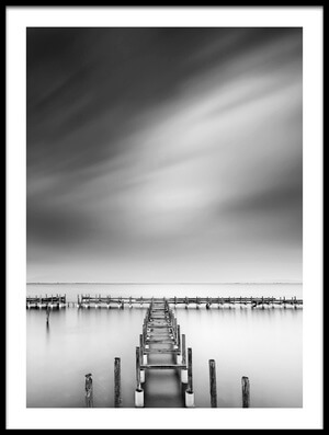 Art print titled The Old Pier by the artist George Digalakis