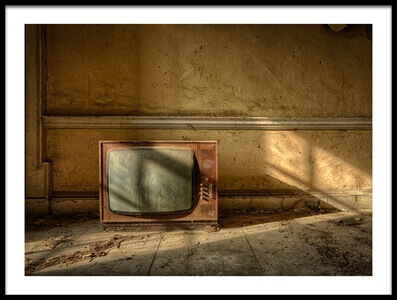 Buy this art print titled The Old TV by the artist Lawrence Wheeler