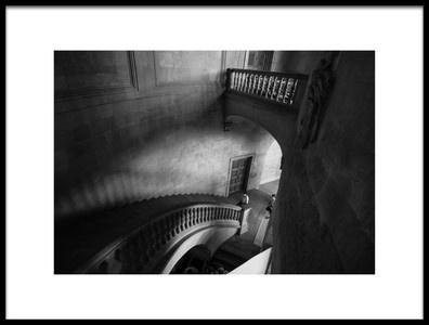 Art print titled The Palace Stairs by the artist Mario Eduardo Blanco García