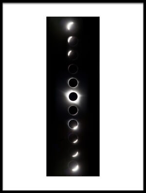 Art print titled The Path of Totality by the artist Vadim Ianulionoc
