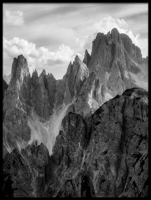 Art print titled The Peaks II by the artist Daniel Fleischhacker