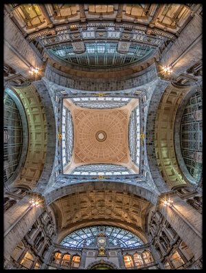 Art print titled The Railway Cathedral by the artist Jef Van den Houte