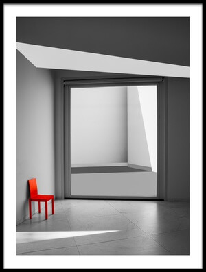 Art print titled The Red Chair by the artist Inge Schuster