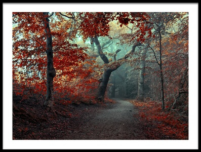 Art print titled The RED Forest by the artist Leif Løndal