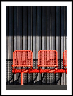 Art print titled The Red Trio by the artist Jef Van den Houte