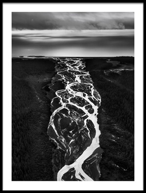 Art print titled The River by the artist Roberto Marchegiani