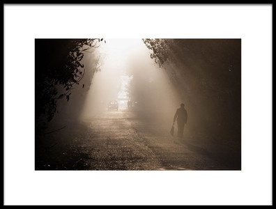 Art print titled The Road by the artist Razvan Lazarescu