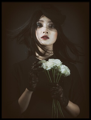 Art print titled The Rose by the artist Daisuke Kiyota