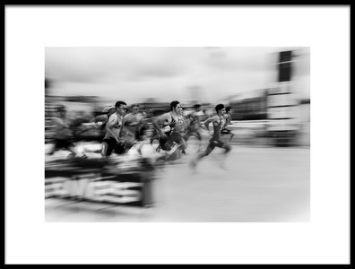 Art print titled The Runners by the artist Carlos Gonzalez