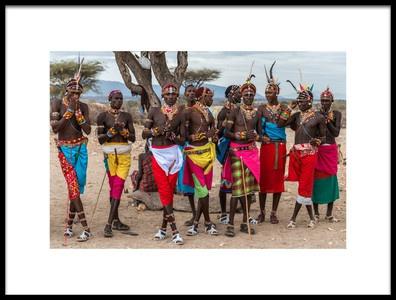 Art print titled The Samburu Boys by the artist Jeffrey C. Sink