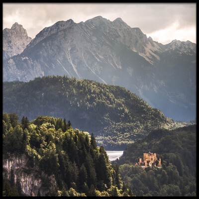 Art print titled The Second Castle by the artist Andreas Wonisch