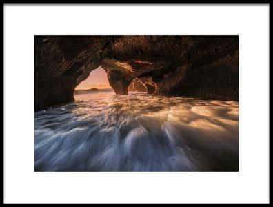 Art print titled The Secret Sea Cave II by the artist Jingshu Zhu