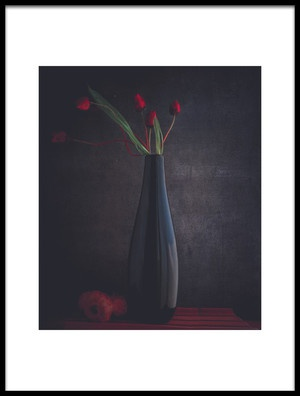 Art print titled The Silent Flower by the artist farid kazamil