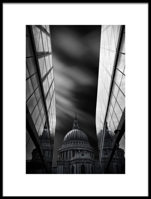Buy this art print titled The St Pauls Cathedral In Reflection by the artist Nader El Assy