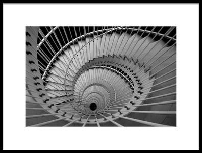 Art print titled The Stair Eye by the artist Peru Serra
