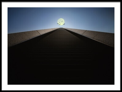 Art print titled The Stairs to the Moon by the artist Dr. Akira TAKAUE