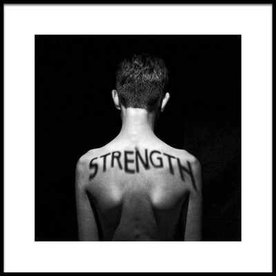 Art print titled The State of Being Strong by the artist Mike Melnotte