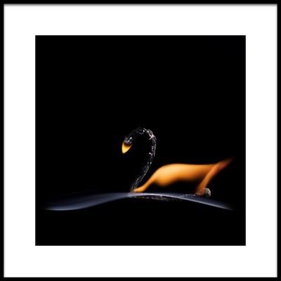 Art print titled The Swan by the artist Stanislav Aristov