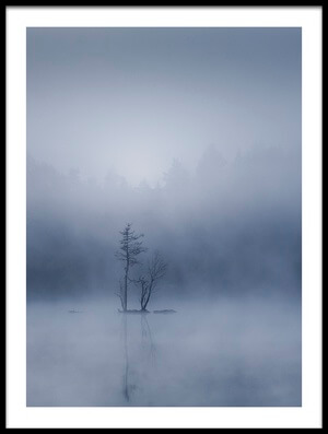 Art print titled The Tiny Island by the artist Andreas Christensen