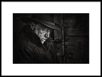 Art print titled The Unforgiven by the artist Claude Brazeau