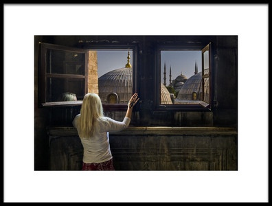 Art print titled The Unique ViewIstanbul by the artist Christer Olsen