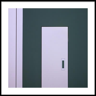 Art print titled The White Door by the artist Roberto Parola