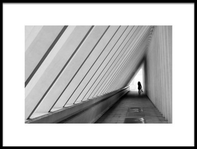 Art print titled The White Exit by the artist Lus Joosten