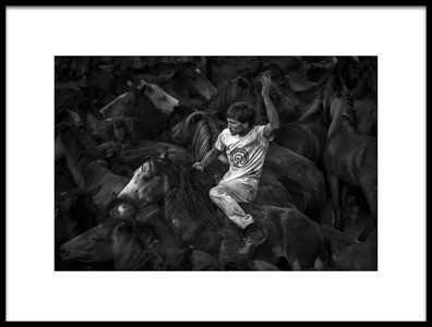 Art print titled The Wild Tamer by the artist Alfonso maseda varela