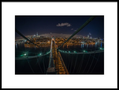 Art print titled The Williamsburg Bridge by the artist Christopher R. Veizaga