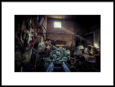 Art print titled The Worker by the artist Nader El Assy