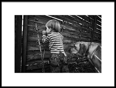 Buy this art print titled The World from Behind the Fence by the artist Monika Strzelecka