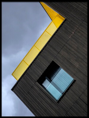 Art print titled The Yellow Balcony by the artist Jef Van den Houte