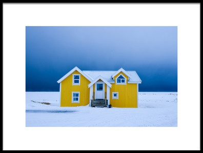 Art print titled The Yellow House by the artist Lucian Constantin