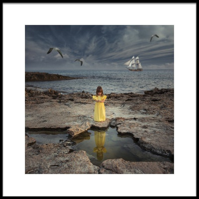 Art print titled The Young Lady and the Sea II by the artist daniel penciuc