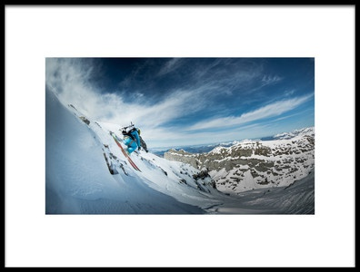 Art print titled Tho De La Soujeole Backdoor Flaine by the artist Eric Verbiest
