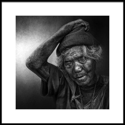 Art print titled Thoughts of a Blind Man by the artist Fadhel Almutaghawi