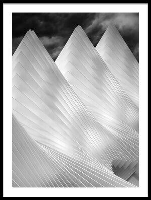 Art print titled Three Summits by the artist Michiel Hageman