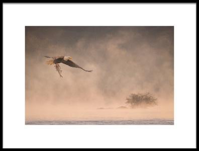Art print titled Through Mist by the artist 李从军 / Austin Li