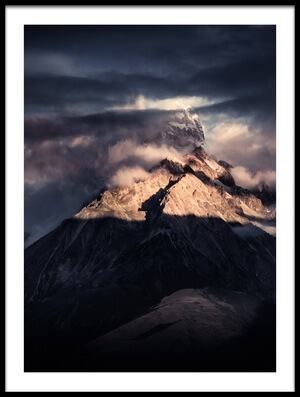 Art print titled Tibet Snow Mountain《克麦隆山》 by the artist qiye赣州柒爺