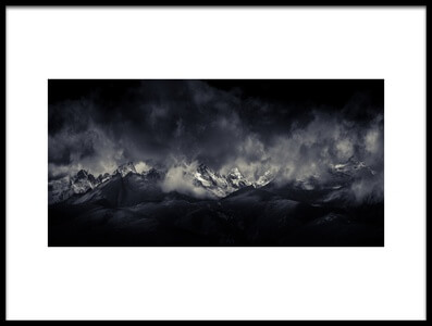 Art print titled Tibetan Land Devildom《水墨格聂》 by the artist qiye赣州柒爺