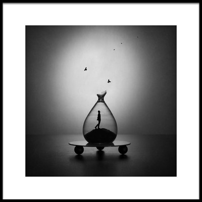 Art print titled Time Flies by the artist Victoria Ivanova