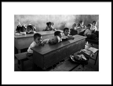 Art print titled Tired at School by the artist ivano cheli