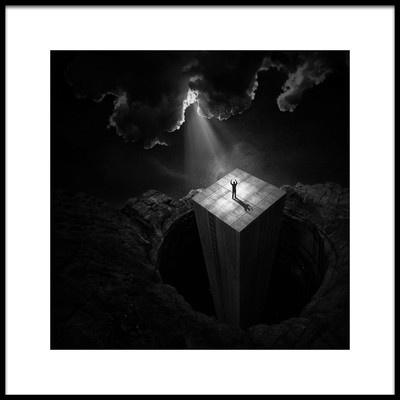 Art print titled To Escape the Void by the artist Martin Cekada