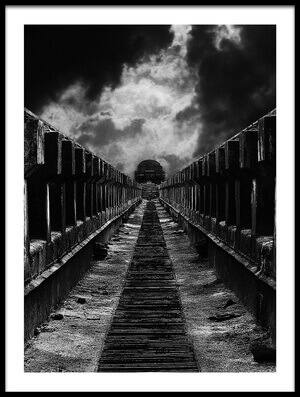 Art print titled To the Train by the artist Mladjan Pajkic - limbonic