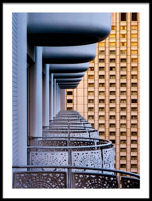 Buy this art print titled Tokyo Balconies by the artist Jay Heiser