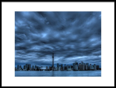 Buy this art print titled Toronto Blue by the artist Max Witjes