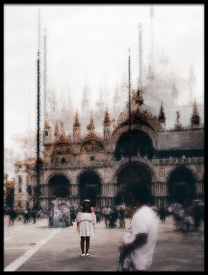 Art print titled Tourists In Venice by the artist Carmine Chiriacò