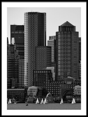 Art print titled Towers by the artist Andreas Feldtkeller